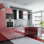 кухня с акрилайном