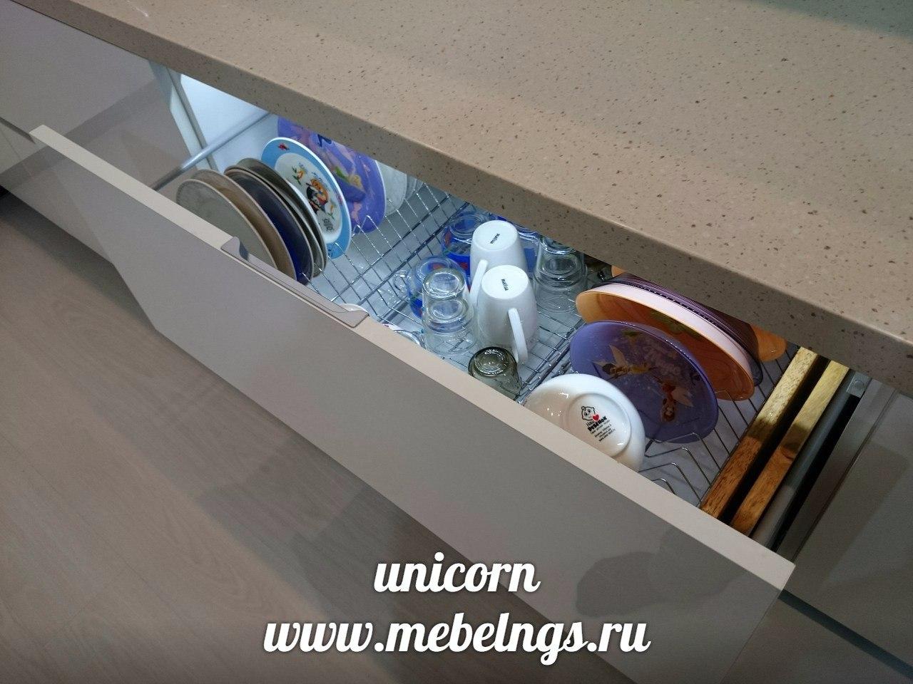 ящик с сушкой для посуды со светодиодной подсветкой