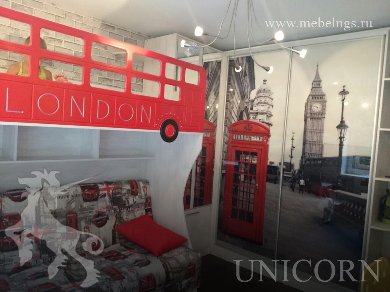интерьер детской комнаты в стиле Лондон