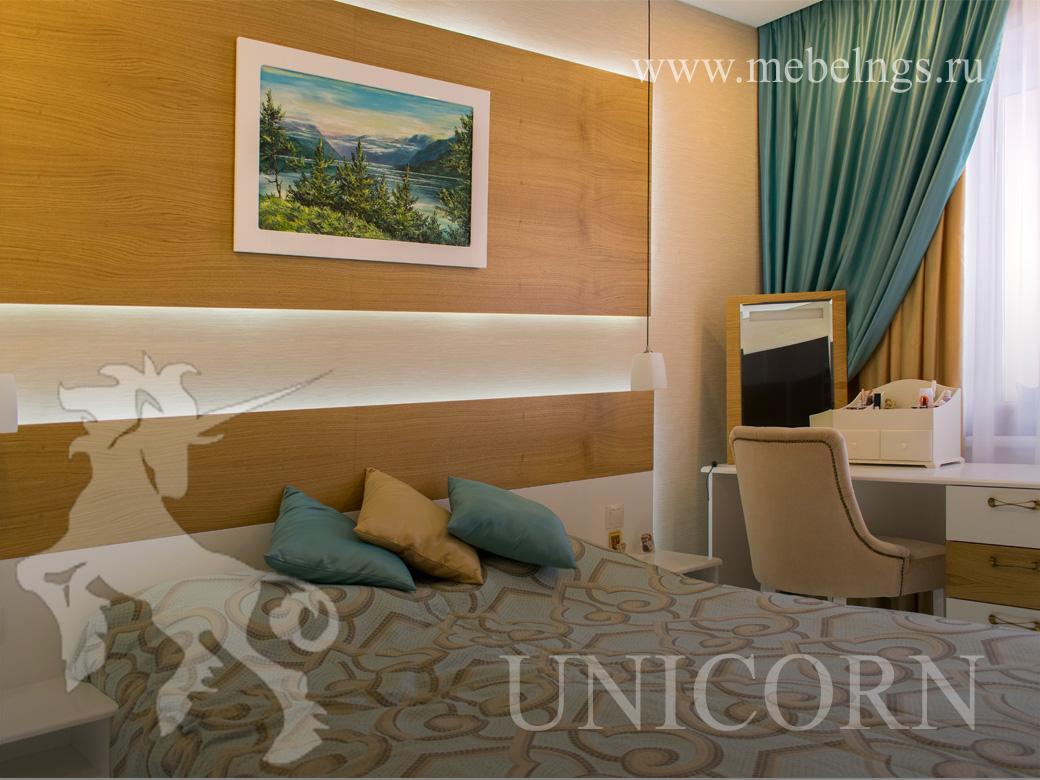 светодиодная подсветка в кровати мебель на заказ Новосибирск