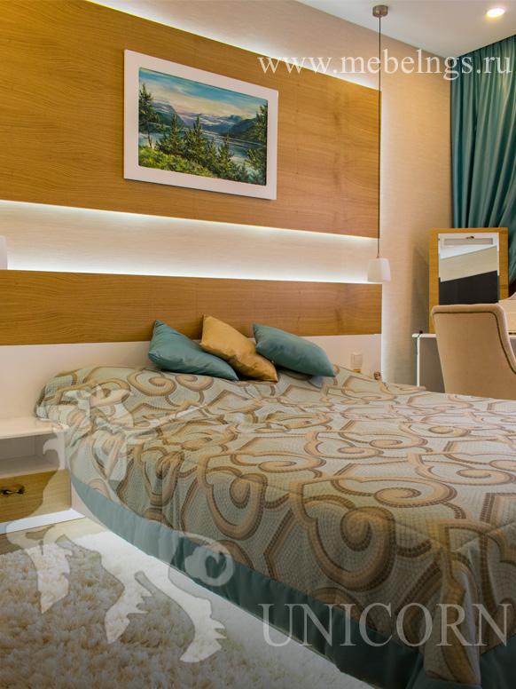 кровать на заказ с подсветкой
