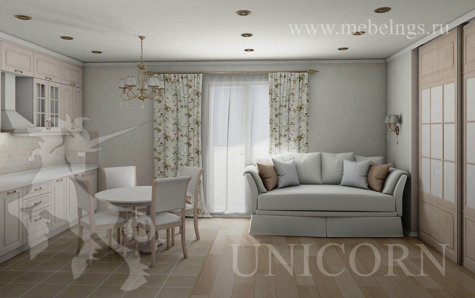 дизайн-проект небольшой квартиры-студии