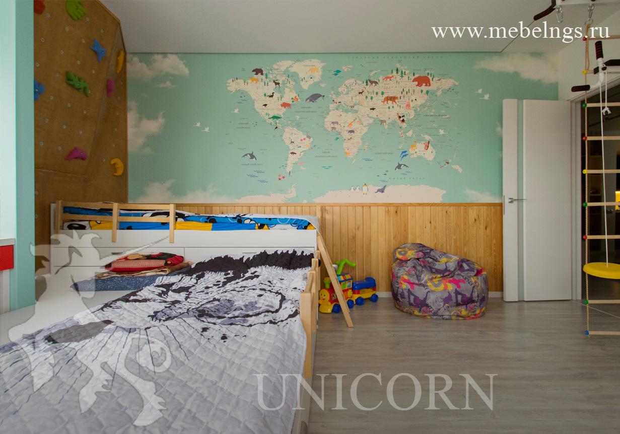 кровать подиум для детской комнаты