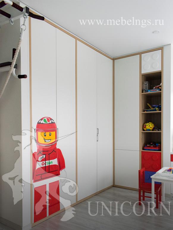 угловой шкаф для одежды лего