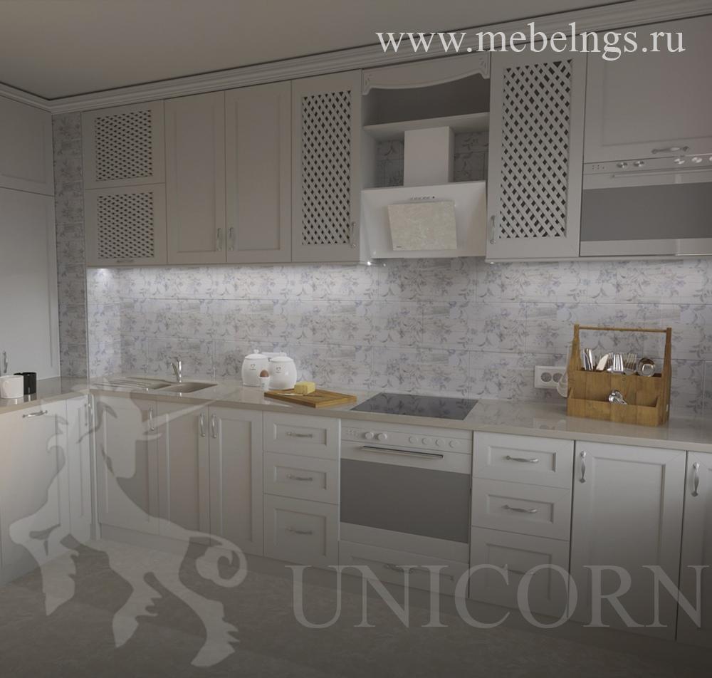 "дизайн-проект кухонного гарнитура в стиле прованс от МФ ""Юникорн"""