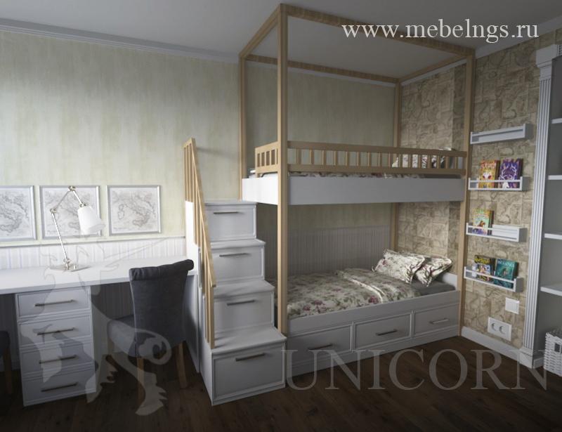 дизайн-проект комнаты для двух детей