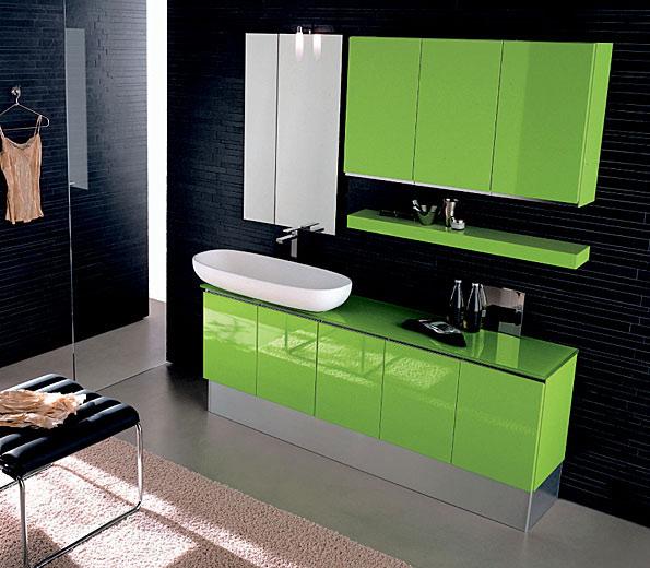 яркий современный набор мебели (гарнитур) для ванной комнаты на заказ от производителя
