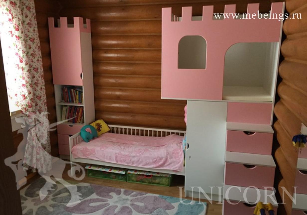 розовый замок для девочки
