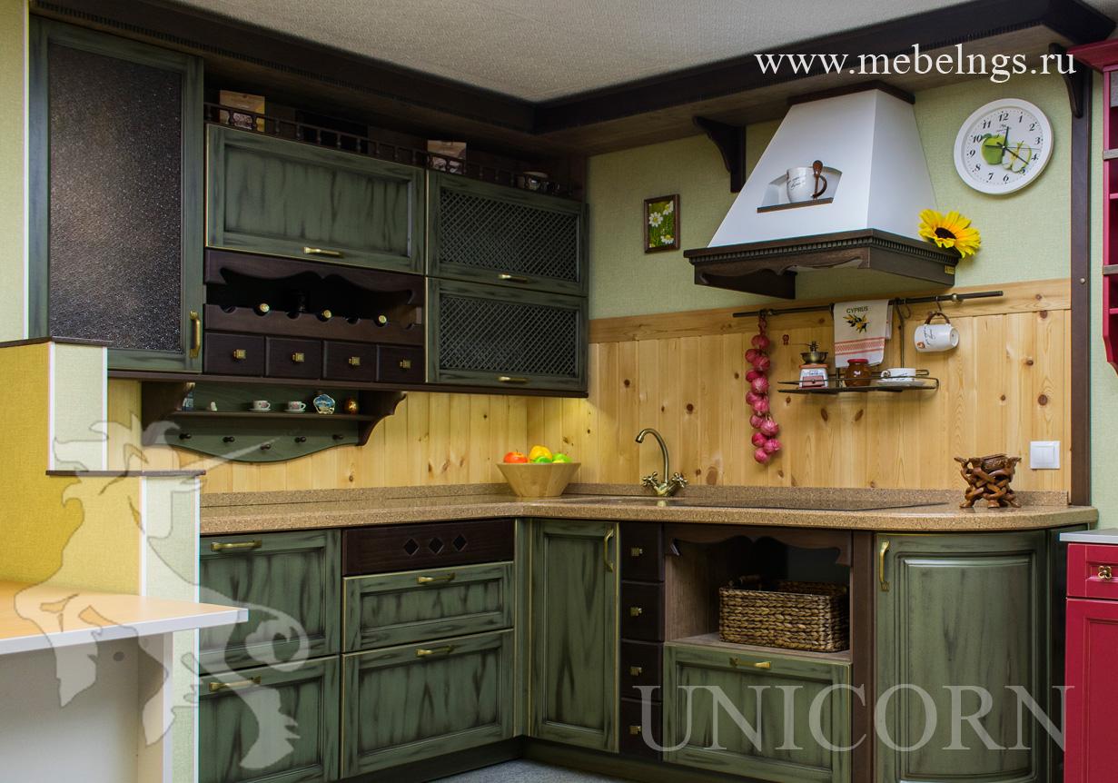 кухня из массива бука