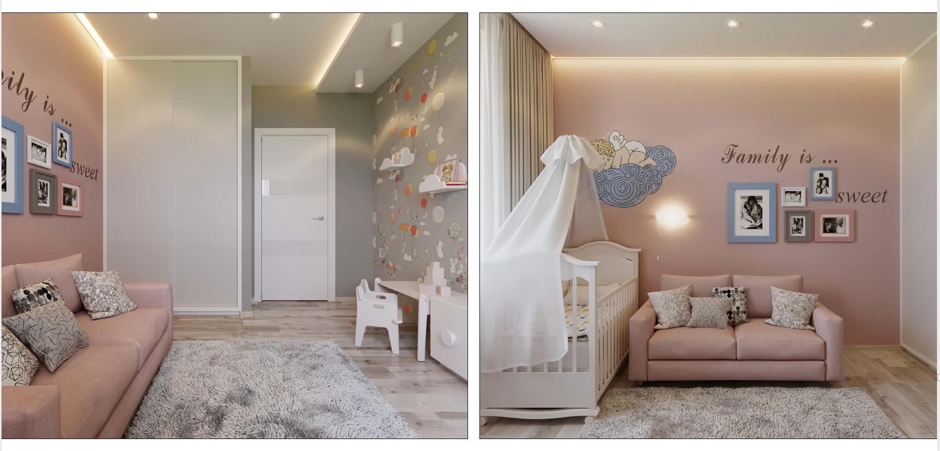 дизайн-проект комнаты для девочки