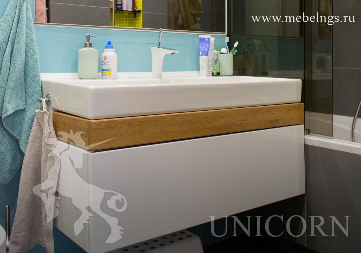 тумба подвесная для санузла / ванной комнаты