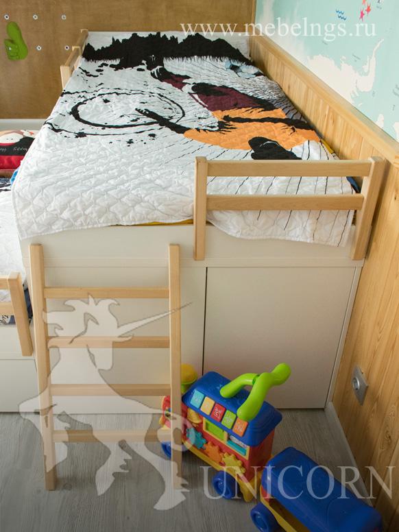 летсница из дерева для кровати детской